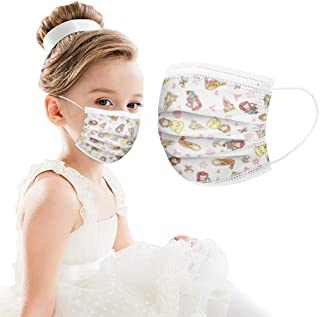 Sugarbig Disposable Face Guard for Kids Children, Princess & Castle Pattern Kids Oral Protection Filter Dustproof Facial Protector, High Filtration and Ventilation Security, Effective Protection(20PC)