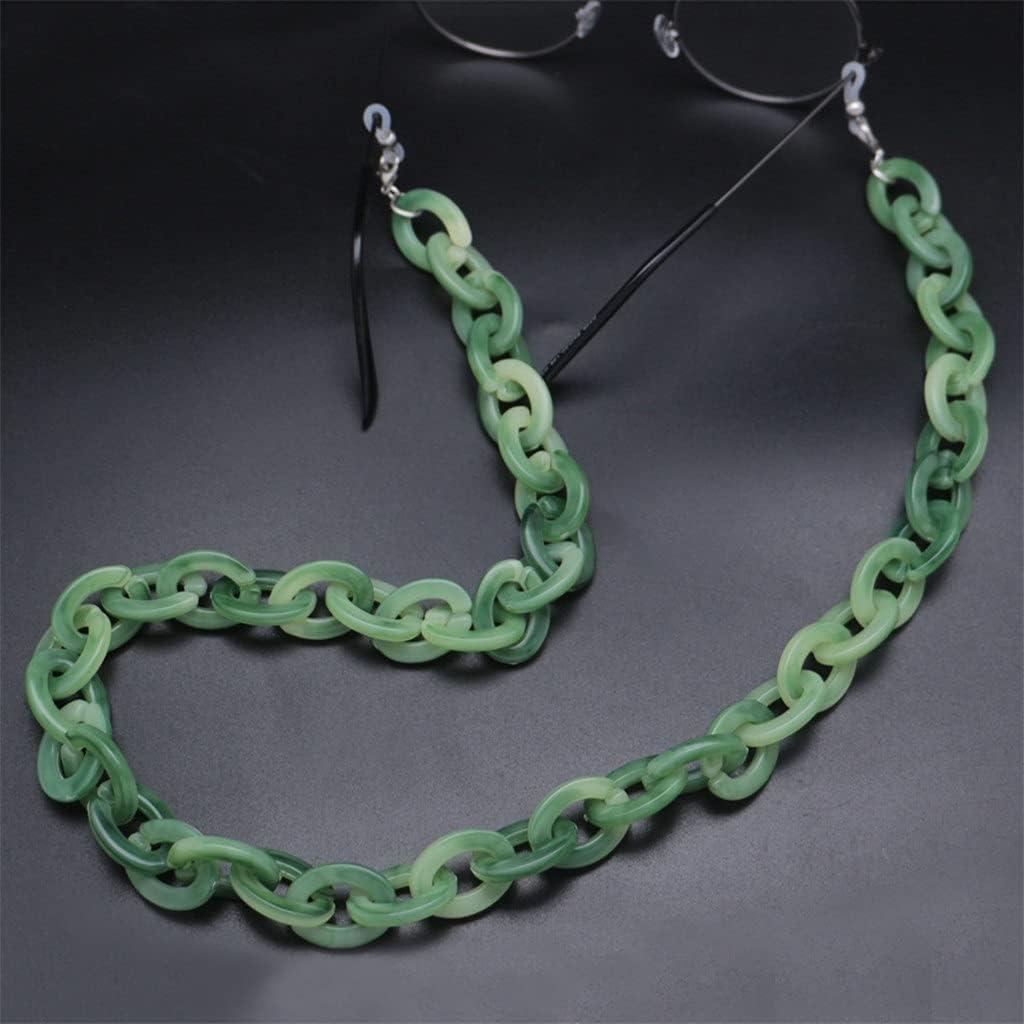 XJJZS Acrylic Anti-Slip Glasses Chain Reading Eyeglasses Strap Cord Holder Lanyard for Women Men Eyewear Jewelry (Color : A)