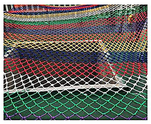 1*5M Climbing Cargo Net For Kids Ninja Net Climbing Swingset Polyester Rope Ladder For Jungle Gyms Playground Ribbon Net Obstacle Course Training Climbing Net For Outdoor Treehou(Size:1*1m (3*3ft))