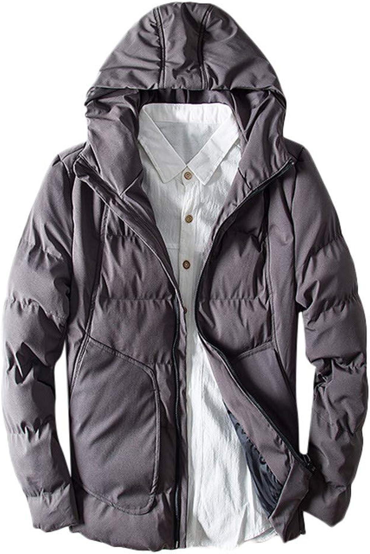 188074da043 LisYOU F Men's Winter Winter Winter Warm Hoodie Zipped Thick Solid ...