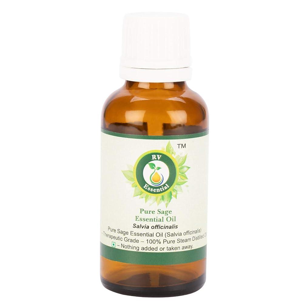 詐欺豊富に抵抗力があるピュアセージエッセンシャルオイル100ml (3.38oz)- Salvia Officinalis (100%純粋&天然スチームDistilled) Pure Sage Essential Oil