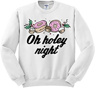 Oh Holey Night Christmas Donut Sweatshirt Unisex