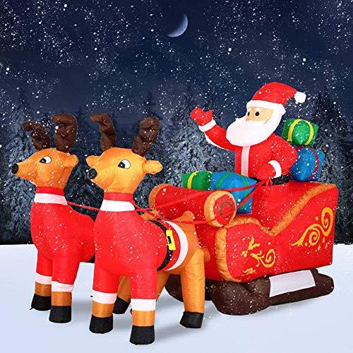 ZHIRCEKE Gonfiabile Babbo Natale con Slitta LED Illuminato...