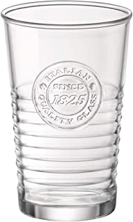 Bormioli Officina Gläser, aus Glas, transparent, 8 x 8 x 12,3 cm, Packung mit 4 Gläsern