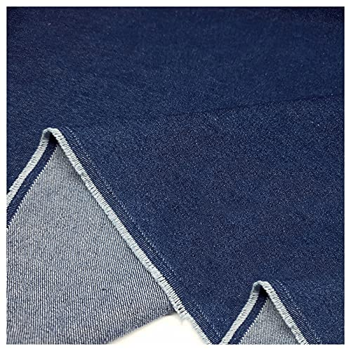 Stretch Stoff Baumwolle Gewaschener Denim Sand Gewaschen Dunkelblau Hergestellt Aus Kleidung Hosen Hemden Röcken DIY-Kleidungsdesign Dickem Mantel 570 G/M (Größe: 1,5 (Size:1.5M*2M,Color:Dunkelblau)