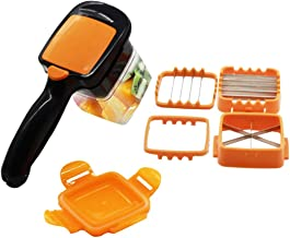 Vegetable Chopper,FOHYLOY Safety Veggie Meals Cutter,Portable Quick Perfect for Kitchen Helper Cooking Xmas New Year Dinner Party (Suitable for cutting soft)
