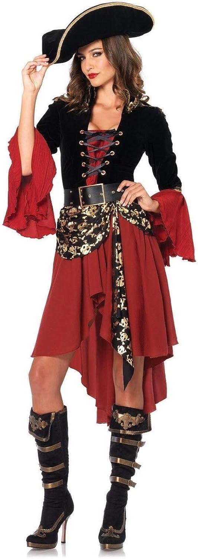 Zooka Pirates of The Caribbean Cruel Seas Captain Adult Women Pirate Halloween Cosplay Costume(M)