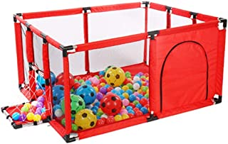 Baby Playpen Kids Activity Center With Football Shooting Door  Indoor Kids Safety Playground Fence  Size 120 100 62cm