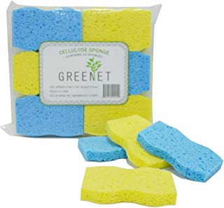 Cleaning Sponges Bulk Sponges, 24 Pack+ 2 Free Heavy Duty Scouring Pads, Sponges Bathroom Sponge Kitchen, Cleaning Sponge 100% Natural Cellulose for Kitchen Sponges 4.1 x 2.7 x 0.58 Inches by Greenet
