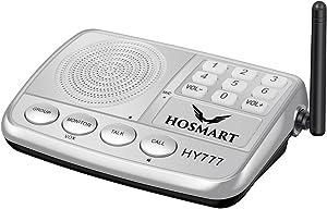 Wireless Intercom System Hosmart 1/2 Mile Long Range 7-Channel Security Wireless Intercom System for Home or Office (2018 New Version) [1 Stations Silver]