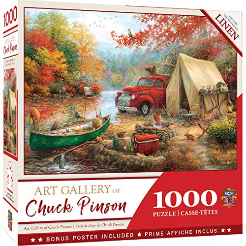 MasterPieces Chuck Pinson - Share The Outdoors 1000-Piece Linen Jigsaw Puzzle