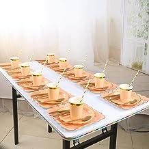 مجموعة أدوات مائدة للاستعمال مرة واحدة ذات جودة عالية 10 أشخاص، عناصر تزيين الحفلات الورقية، قابلة للتحلل، للنزهات، حفلات ...