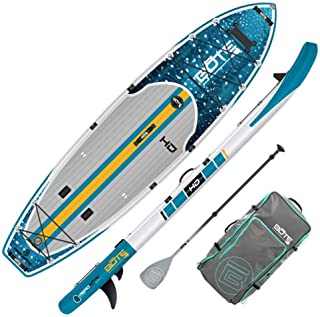BOTE HD Aero Inflatable Stand Up Paddle Board, SUP with Accessories | Pump, Paddle, Fin & Travel Bag