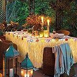 Llp Estilo Hawaiano Falda de Hierba con Flores Tropicales y Banners for la decoración de la Fiesta de jardín Barbacoa Beach