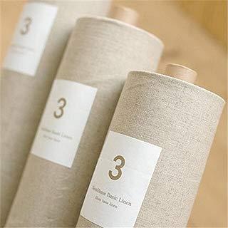 "Katoot@ Natural Linen Fabric Cloth, Zakka Cotton/linen, Organic Unbleached, 1/2 Yard (56"" x 17.7"")"