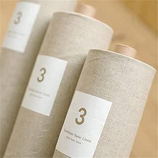 Katoot@ Natural Linen Fabric Cloth, Zakka Cotton/linen, Organic Unbleached, 1/2 Yard (56