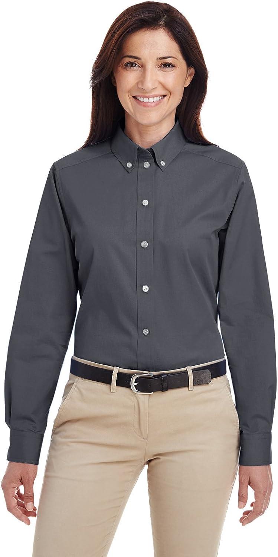 Harritton Women's 100% Dedication Cotton Twill Teflon with Dres Sleeve Long Max 50% OFF
