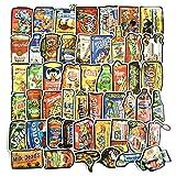 50 adesivi artistici con marchi e loghi, per frigorifero, laptop, specchio, parete, skateboard, finestra