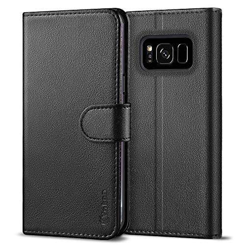 Vakoo Serie Wallet Cover per Samsung Galaxy S8 Plus Custodia, Nero