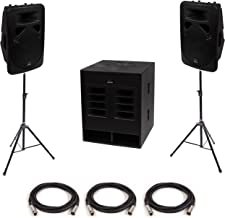 """Swamp Small-Medium Powered PA - 18"""" Subwoofer + 2X 12 FOH Speakers"""