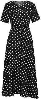 طباعة فستان النساء الصيف مربع الرقبة قصيرة الأكمام اللباس الحبيب دبوس حتى 50S فساتين حزب حزام