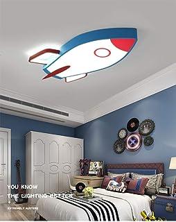 Led Lámpara De Techo Regulable,Plafon Led De Techo Dormitorio,Lámpara De Techo Para Habitación Infantil Con Mando A Distancia,Forma De Cohete 28W,Luz Blanca,