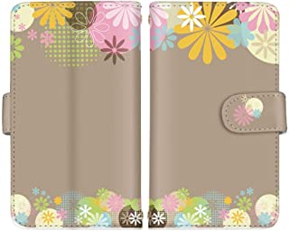 Xperia Z3 SO-01G / SOL26 / 401SO 国内生産 ミラー スマホケース スマホカバー 手帳型 携帯ケース 携帯カバー SONY ソニー エクスペリア ゼットスリー 【D.ブラウン】 花柄 カラフル ami_vc-426
