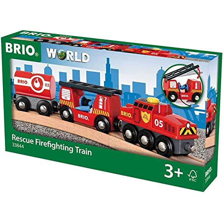 BRIO World Fire & Rescue Train for Kids Age 3 Years Up - Compatible with all BRIO Railway Sets & Accessories