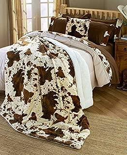 brown cow print bedding