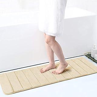 "Memory Foam Soft Bath Mats - Non Slip Absorbent Bathroom Rugs Rubber Back Runner Mat for Kitchen Bathroom Floors 17"" x 4..."