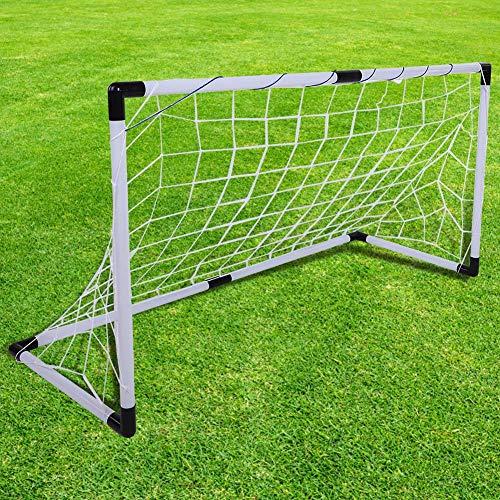 Alomejor Kinder Fußballtore Mini Falten Fußball Torpfosten Net Goal Set Sport Spielzeug mit Weiß Toys Fußballtor Sätze für Kinder Jungen Mädchen