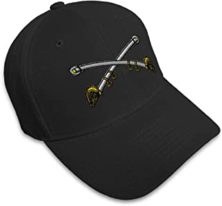 Baseball Cap Cavalry Crossed Sabers Brass Embroidery Military Insignias Acrylic