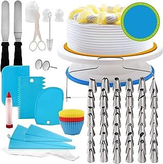 LaoZan Sprzęt do dekorowania ciast 106 sztuk zestaw do pieczenia ciasta obrotowych końcówek do wyciskania silikonowe torby...