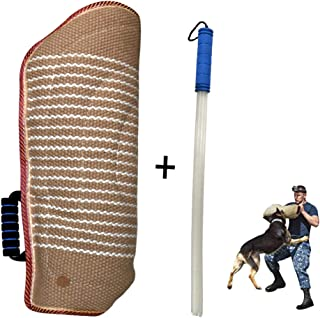 MelkTemn Professional Dog Bite Training Set Dog Bite Arm Sleeve with Whip Agitation Stick for Dogs Training Protection Biting Sleeve for Pitbull German Shepherd Puppy Biting Playing