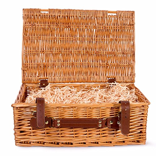 BASIC HOUSE Premium Wicker Picnic Hamper Hampers Shop Retail Display Home Decoration (Small)