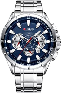 Curren Wrist Watch Men Waterproof Chronograph Military Army Stainless Steel Male Clock Man Sport Watches 8363