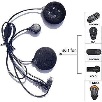 Kit Casque de Moto Universel Casque St/ér/éo Appel Ecouteur Jack 3.5mm avec C/âble dExtension pour T/él/éphone Mobile MP3 Oreillette T/él/éphone Portable pour Casque Moto