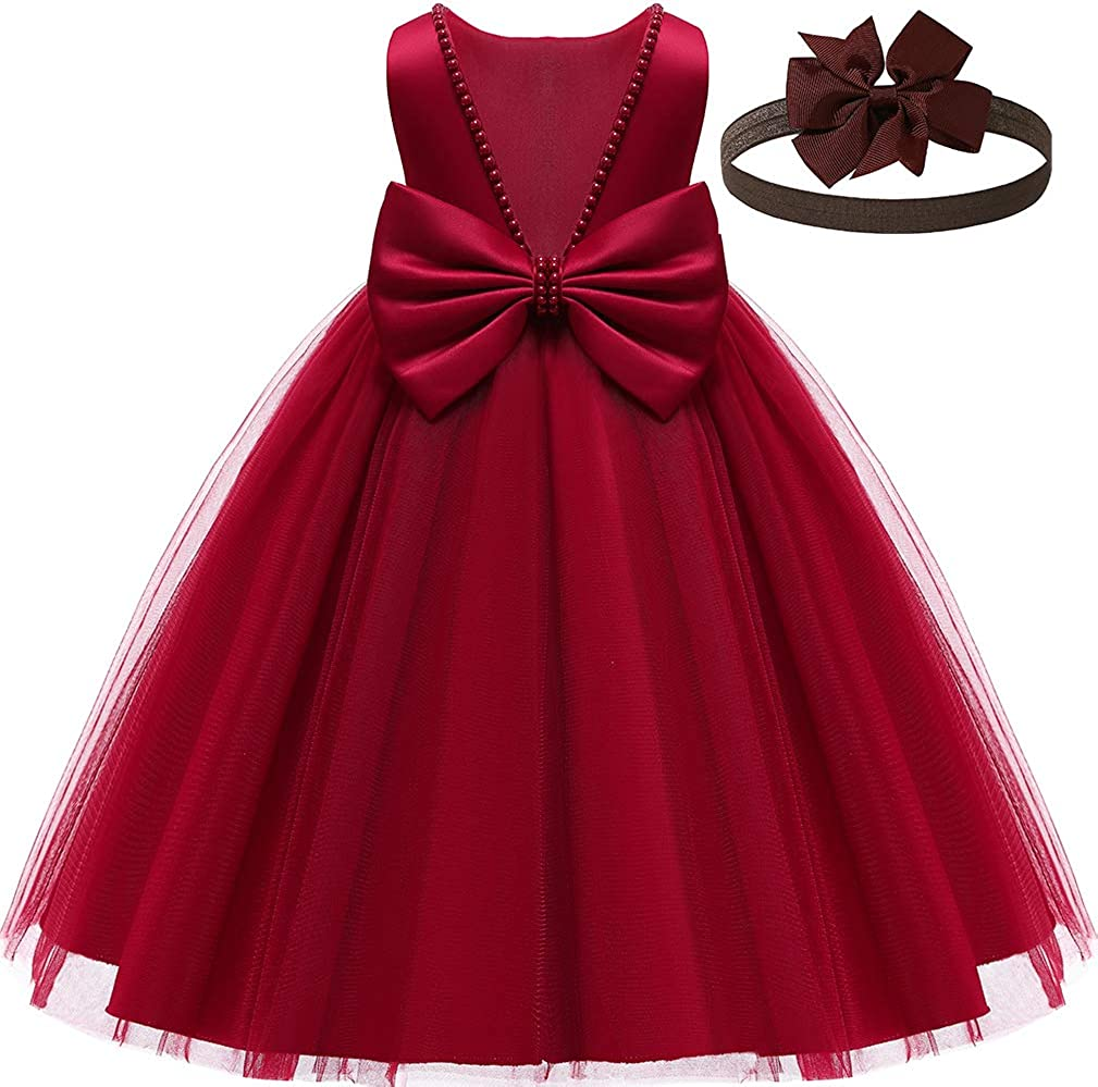 Baby Girl Dresses Ruffle Sacramento Mall Lace Pageant Flower Spring new work Party Wedding