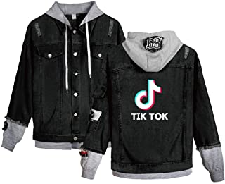 OHYOUNG TIK Tok Hoodie Unisex Demin Jeans Jacket C00605NZ01