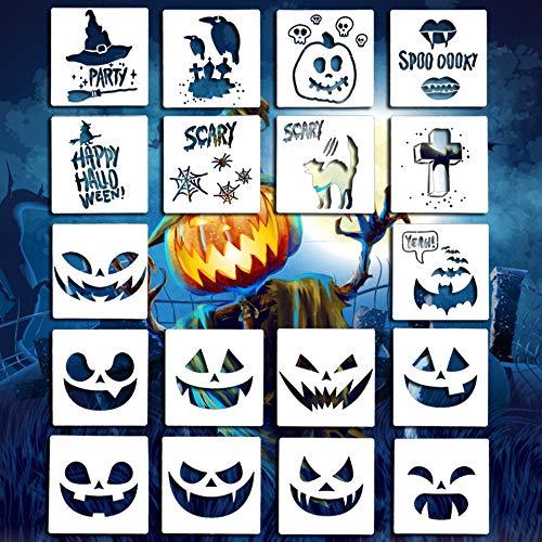 Juego de 20 plantillas de Halloween para decoración de galletas, paredes, vidrio, telas, madera, tarjetas, carteles, etc.