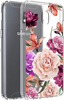 Vinve Floral Slim Case for Galaxy J7 2018/J7 V 2nd Gen/J7 Aero/J7 Star/J7 Top/J7 Crown/J7 Aura/J7 Refine/J7 Eon (Flower)