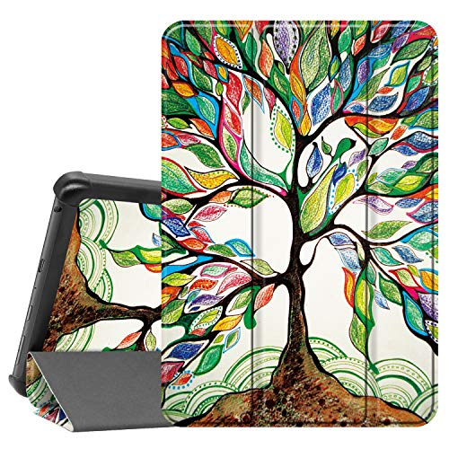 Famavala Shell Case Cover Compatible with All-New 8' Fire HD 8 / Plus (10th Generation 2020 Release) Tablet (LuckyTree)