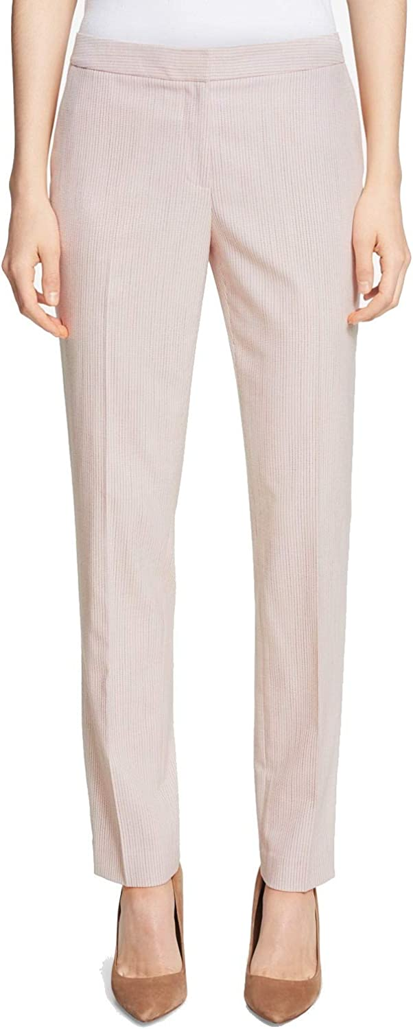 Tommy Hilfiger Womens Los Angeles Mall Work Wear half Pants Slim-Fit Ankle 10 Pink