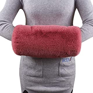 Yuxusus Women Warm Hand Muffs Faux Fur Arm Warmer Winter Wedding Fleece Lined Mittens