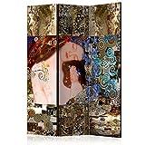murando Biombo Klimt Madre e Hijo 135x172 cm Impresion Bilateral en el Lienzo de TNT Decoracion Foto Biombo de Madera con Imagen Impresa Home Office l-A-0015-z-b