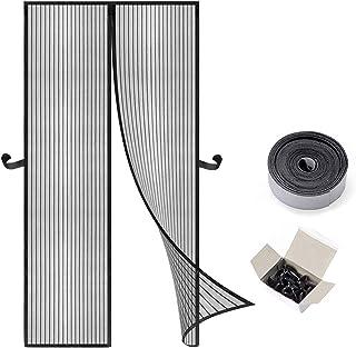 Eterbiz Magnetyczna moskitiera na drzwi, siatka przeciw komarom bez wiercenia 26 magnesów od góry do dołu uszczelnienie dr...