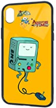 Adventure Time BMO Phone Case for iPhone XR Soft TPU Glass Case Protective Case Cover for iPhone XR