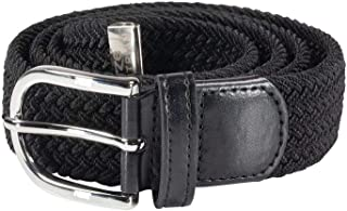 Unisex Equestrian Horse Riding Stretchy Braided Belt with Metal Buckle