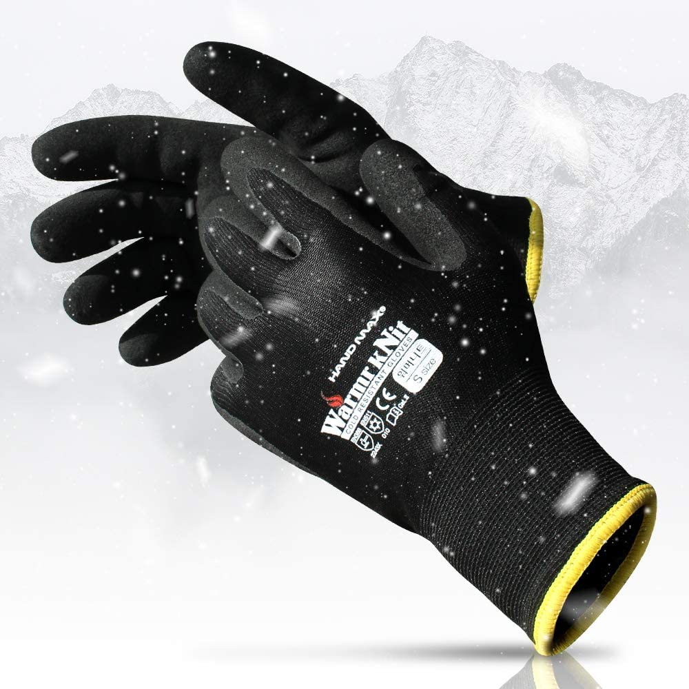 3-Pairs, KORECA WARMR KNIT, Superior Cold Resistant Work Glove, Latex Micro Foam Coated, Acrylic Liner