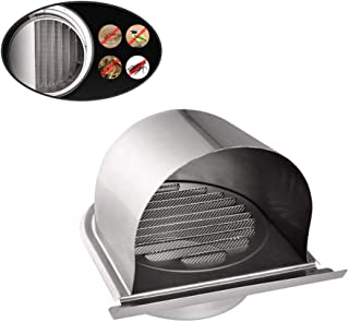 Bewox 4 Inch Ducting Air Vent Ventilation Grille Cover External Extractor Wall Air Outlet Cover, 304 Stainless Steel